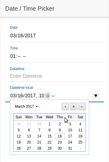 Date and time picker in Ionic 2 /home/NoNameZ